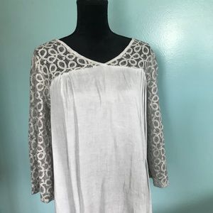 Tops - Lightweight White lace Top